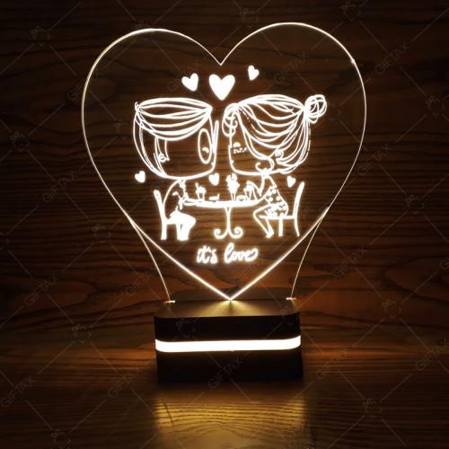 بالبینگ طرح لاو (it's love) بالبینگ/چراغ خواب سه بعدی